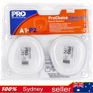 ProChoice A1P2 Replacement Cartridges to suit HMTPM Half Mask - PCA1P2 - Pair