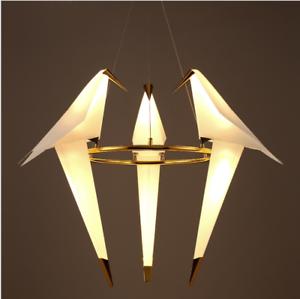 Details About Iron 3 6 Lights Led Chandelier Origami Crane Ceiling Light Fixtures Pendant Lamp