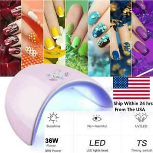 professional 36w led uv nail polish dryer lamp gel acrylic