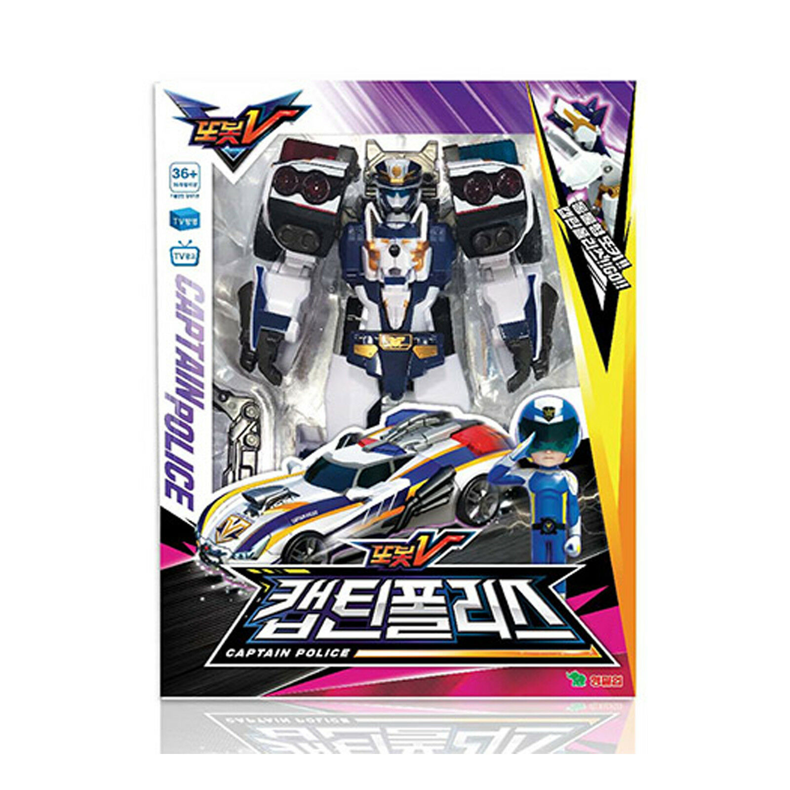 Tobot V Captain Police Transformer Robot Car Toy Action Figure
