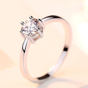 Verlobungsring-klassisch-echt-Sterling-Silber-925-Solitaer-Zirkonia-Damen