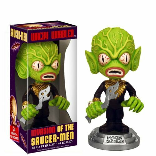 Funko Invasion of the Saucer Men Alien Wacky Wobbler Bobble Head Toy BOX BLEMISH