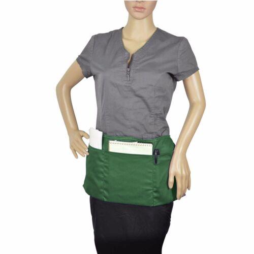 "20/""x10/"" Waist Apron Commercial Waiter Waitress Restaurant Home Bib Spun 3 Pocket"