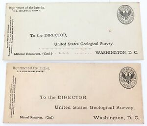 c1900-USA-DEPARTMENT-OF-THE-INTERIOR-GEOLOGICAL-SURVEY-LARGE-UNUSED-COVERS