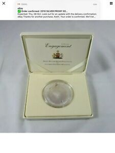 RARE 2010 SILVER PROOF 5OZ ALDERNEY £10 COIN BOX + COA WILLIAM & KATE ENGAGEMENT