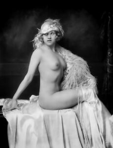 A4-Vintage-1920-039-s-Art-Deco-Pretty-Nude-Girls-Victorian-Edwardian-Beauties-984