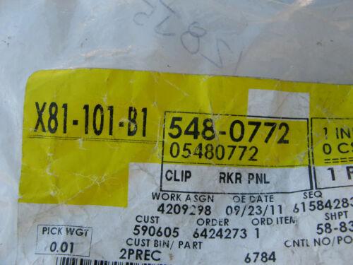 NEW GENUINE GM 5480772 ROCKER PANEL MOLDING CLIP 05480772 FOR 05 CHEVY EQUINOX
