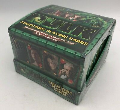 MARVEL HULK Box of 12 Standard Hulk The Movie Collectors Playing Card Decks