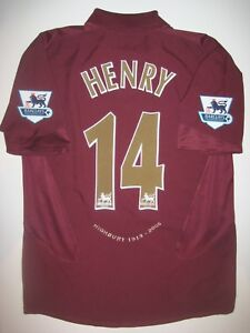 Image is loading Highbury-2005-2006-Arsenal-Nike-Short-Sleeve-Thierry- 5db59a039
