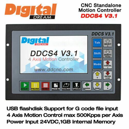 4 Axis Motion Controller Offline CNC 500KHz CNC Standalone Control DDCS V3.1