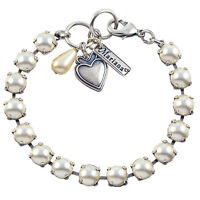 Mariana Tennis Bracelet, Silver Plated With Frost Swarovksi Crystal, 8 4252 139