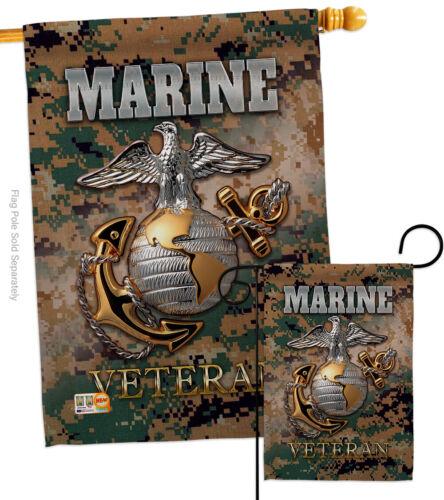 US Marine Corps USMC Veteran Garden Flag Armed Forces Military Gift Yard Banner