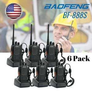 6x-Baofeng-Walkie-Talkie-2-Way-Radio-Handheld-Long-Range-Marine-Police-Frs-GMRS