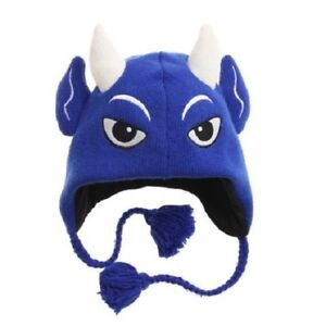 9dbb585b833 New Duke Blue Devils Winter Ski Pilot Laplander Hat Gift NWT Mascot ...