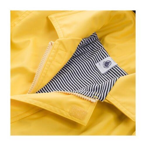 Yellow Petit Bateau Kid Baby Boy or Girl Hooded Raincoat
