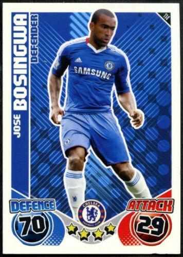 C602 Jose Bosingwa #114 Chelsea Topps Match Attax 2010-11 Football Card