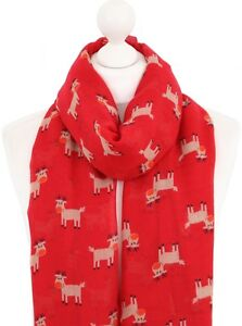 91a5ce2f9e1d9 Rudolph the Red Nose Reindeer Scarf Red Ladies Christmas Secret ...