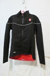 Castelli Women/'s Midweight Long Sleeve Jersey Grey//Pink//Red Medium Retail $120
