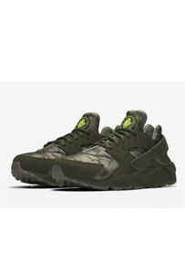 NIKE-AIR-HUARACHE-RUN-SZ-8-Cargo-Khaki-Volt-Sequoia-AT6156-300
