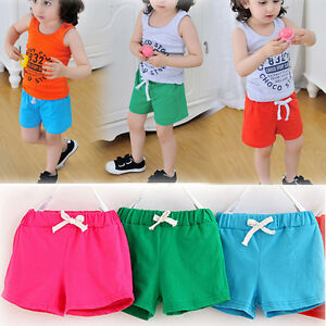 Image Is Loading Summer Kids Children Cotton Strap Shorts Boys And