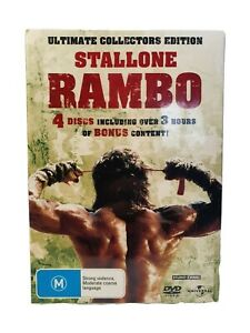 Stallone Rambo Trilogy Ultimate Collectors Edition DVD 4disc Set R4 VGC New