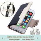 For Apple iphone 7 Plus PU Leather Wallet Case Stand Cover with Cosmetic Mirror