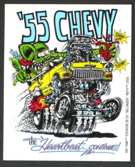'55 Chevy STICKER Decal Ed Big Daddy Roth Rat Fink RF1
