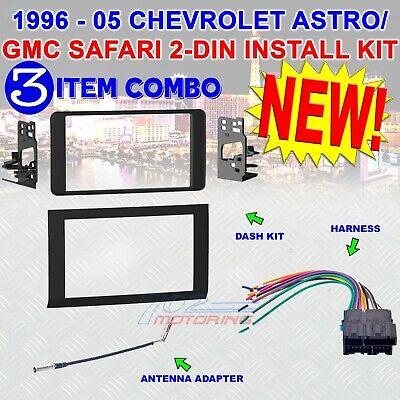 Metra 95-3005 2-DIN Dash Kit Combo for Chevrolet Astro GMC Safari 1996-2005