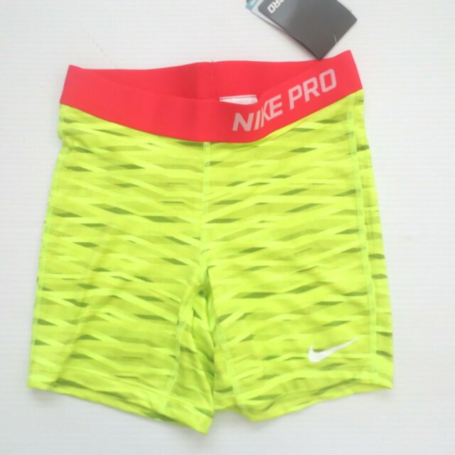 69c4cd0321 Nike Girls PRO Core Compression Short 811578 - Lime Volt 382 - Size M - NWT