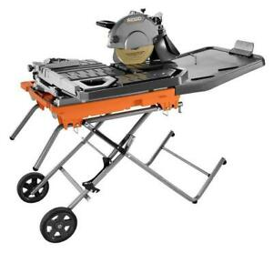Ridgid R4092 Wet Tile Saw With Stand 10in