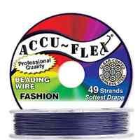 30' Accuflex Plum Purple 49 Strand .024in Accu-flex Beading Wire