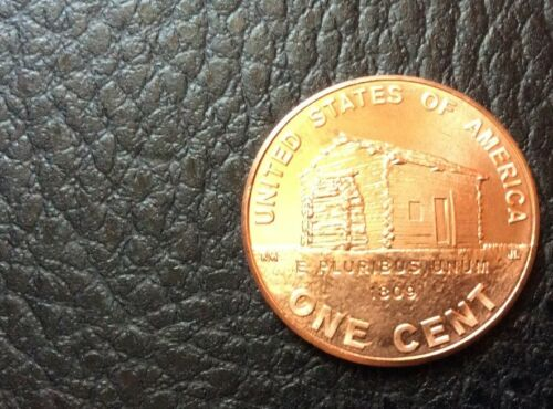 2009 Log Cabin Cent Roll NEW 2009 P Log Cabin Roll of Cents BU Bank Wrap Roll