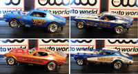 Auto World Nhra Release 12 Legends 4 Car Set In Jewel Case Fits Afx, Aw
