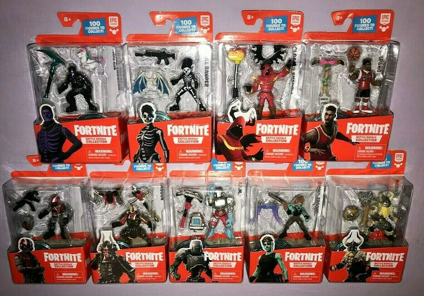 FORTNITE BATTLE ROYALE COLLECTION 9 FIGURE LOT NEW