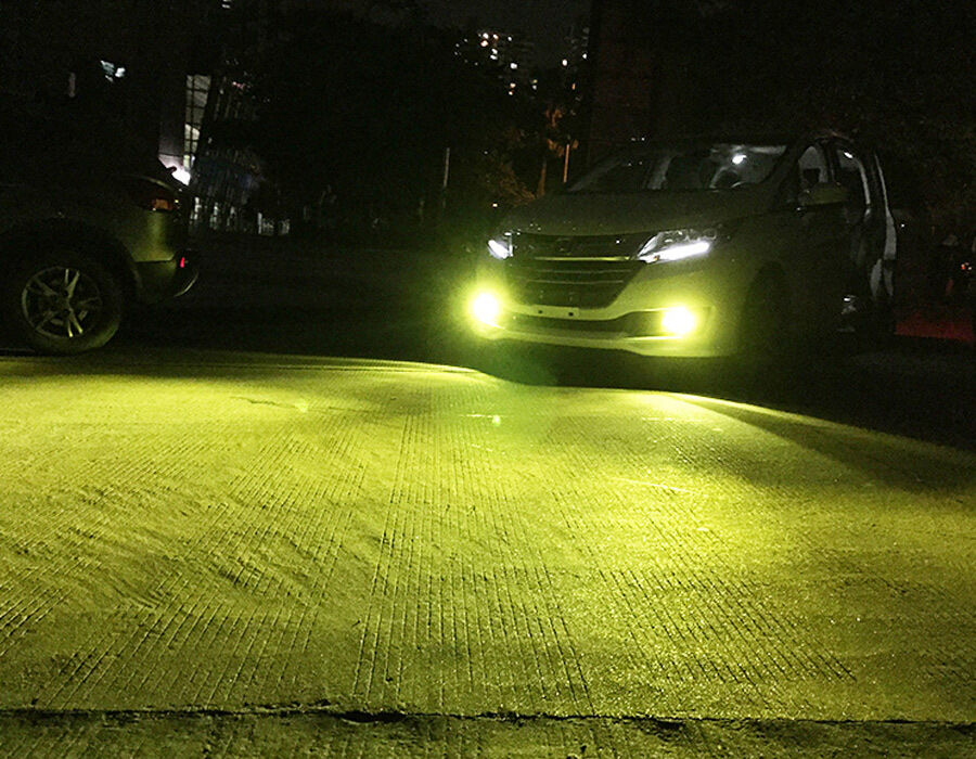 2x H11 H8 Super Bright Led Bulbs 4300k Yellow 100w 1500lm
