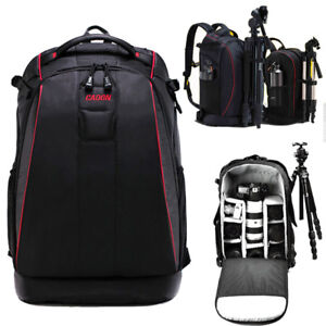 Professional DSLR SLR Camera Lens Padded Backpack Rucksack Waterproof Travel Bag