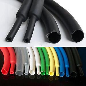 Ø1-50mm Schwarz 3:1 Schrumpfschlauch Isolierschlauch ohne Kleber Heatshrink Tube