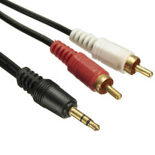 Câble adaptateur audio jack 3,5 mm stéréo mâle vers 2x rca mâles 1,50 m cold