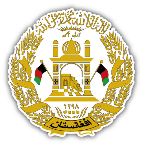 12/'/' or 14/'/' Afghanistan Coat Of Arms Car Bumper Sticker Decal 9/'/'