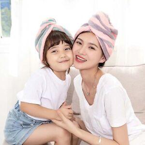 Microfiber-Bathing-Striped-Dry-Hair-Cap-Turban-Wrap-Towel-Hat-Hair-drying-F