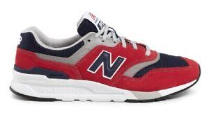 NEW-BALANCE-997H-Scarpe-Uomo-Sneakers-RED-NAVY-GREY-CM997HBJ