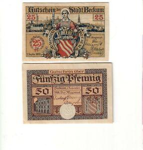 25 Pfennig 1920 + 50 Pfennig 1918 Gutschein Lotto 2560 Diversifié Dans L'Emballage