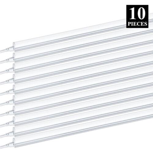 10 PACK T5 4FT Linkable LED Shop Light 6000K Daylight Fixture Utility Ceiling