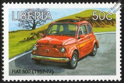 1957 1977 Fiat 500 Cinquecento Mint Automobile Car Stamp 1998