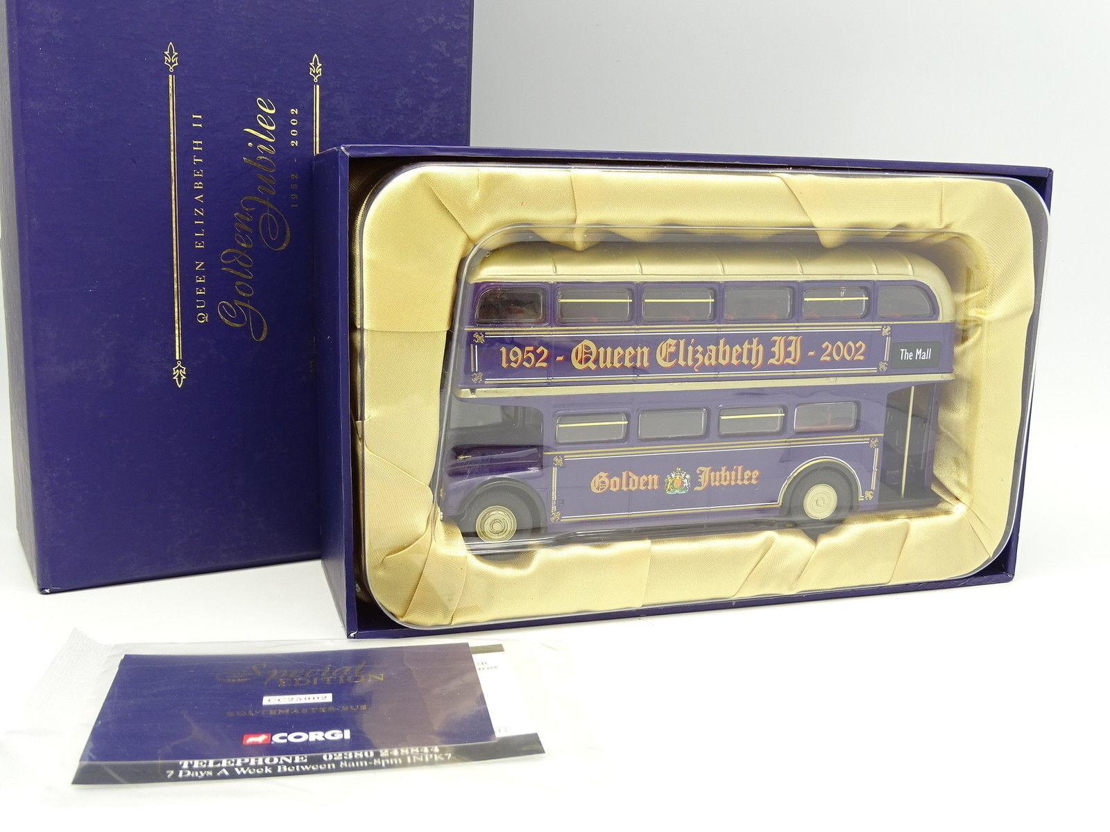 Corgi 1   50 - autobus routemaster - Goldenes jubiläum 2002 queen elizabeth ii