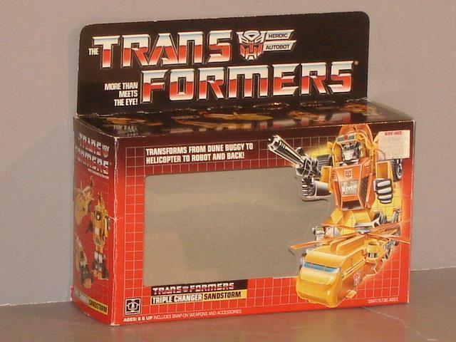 G1 G1 G1 TRANSFORMER AUTOBOT TRIPLE CHANGER SANDSTORM EMPTY BOX LOT  GREAT SHAPE  4aacaa