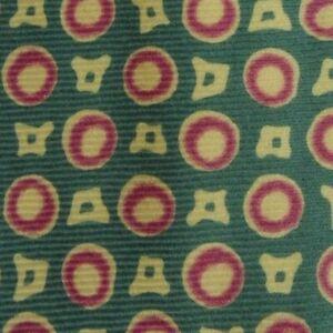 Green-purple-yellow-Foulard-Wool-Tie