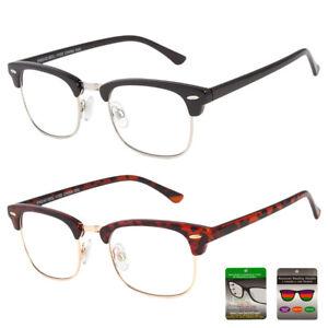 c748d2f19b Image is loading Reading-glasses-NO-Line-progressive-clear-lens-metal-