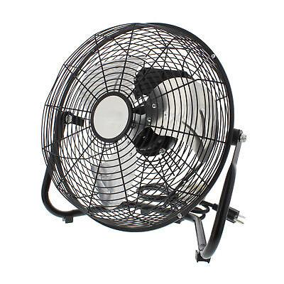 3 Speed High Velocity 9 Inch Floor Cradle Fan 360 Degree Adjustable Tilt  Black 751571502713 | eBay