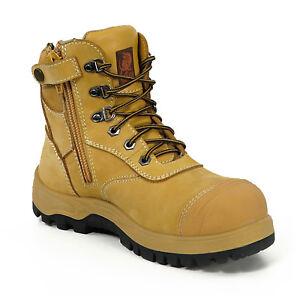 Canura-Safety-Work-Boots-Side-Zip-Anti-Penetration-8605-Steel-Toe-Cap-Press-Stud